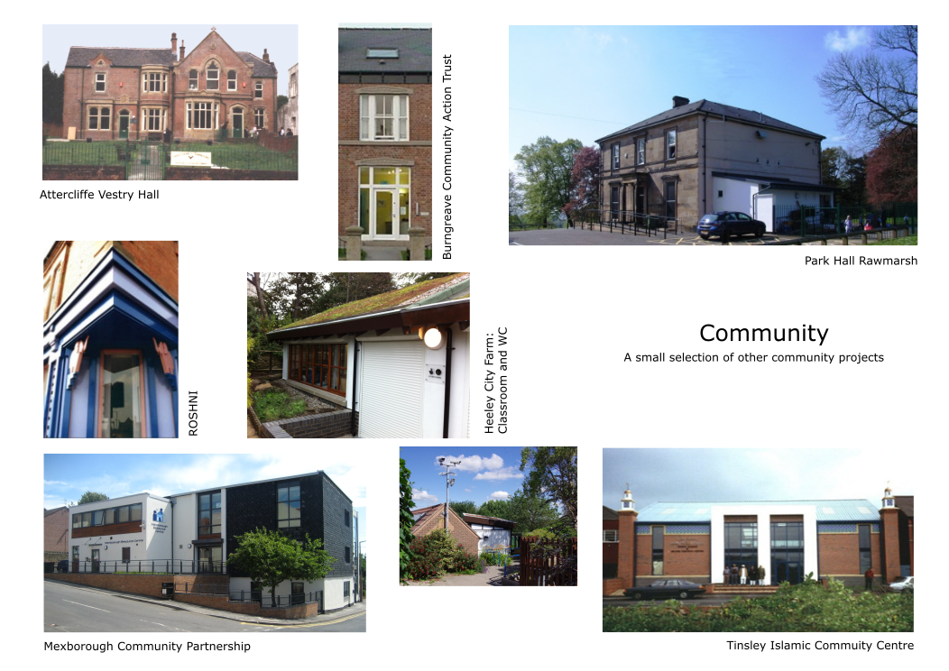 Various projects. Sector: Community. Various clients.